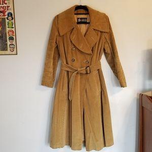Vintage Davis of Boston Corduroy Trench Coat